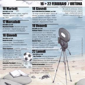 """Ortona, 16-22 febbraio: """"Oltre ogni possibile fine"""", settimana di studi su Pier PaoloPasolini"""